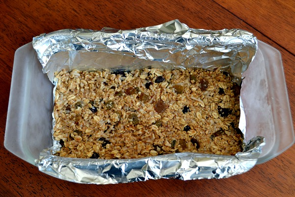 The mixture is pressed into the bottom of a loaf pan and placed in the ...