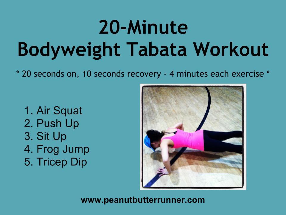 Tabata Training 101 & 20-Minute Workout - Peanut Butter Runner
