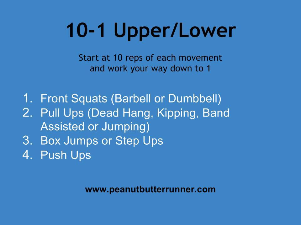 10 1 Upper Amp Lower Body Workout Peanut Butter Runner