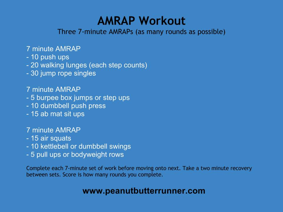 7 Minute AMRAPs Workout - Peanut Butter Runner