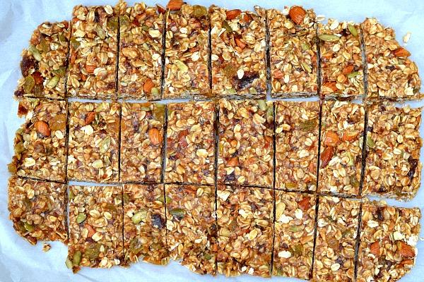 Healthy recipe - Homemade Energy Bar - Gasol Foundation
