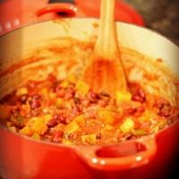 Butternut and Bean Chili {Recipe}