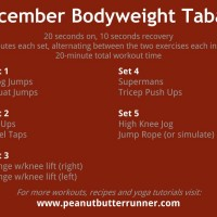 December Bodyweight Tabata Workout