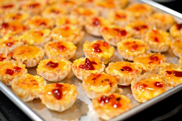 Pimento Cheese Pepper Jelly Phyllo Cups A Baby Shower