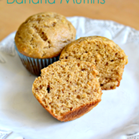 Peanut Butter & Banana Muffins {Recipe}