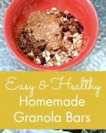 Easy & Healthy Homemade Granola Bars