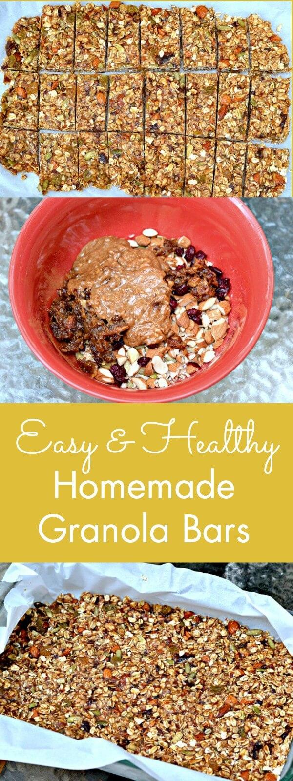 Easy & Healthy Homemade Granola Bars - Peanut Butter Runner