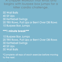 Burpee Box Jump Chipper Workout