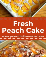 Fresh Peach Cake {Recipe}