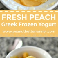 Fresh Peach Greek Frozen Yogurt