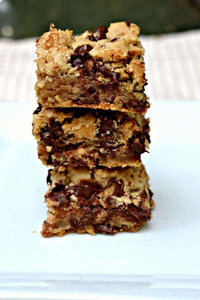 Chocolate Chip Toffee Bars {Recipe} - Peanut Butter Runner