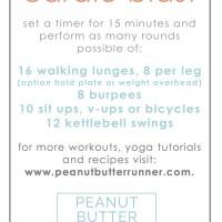 Butt Burner Cardio Blast Workout + Weekly Workouts