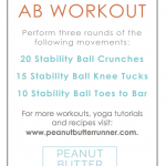 5 Minute Stability Ball Ab Workout + This Week's Workouts