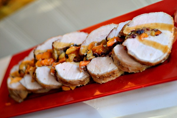 Cider Brined Pork Loin Stuffed with Butternut Squash, Apples and ...