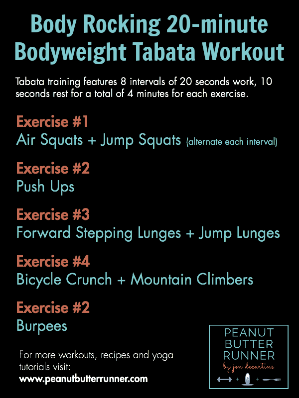 Free Tabata Workouts At Home