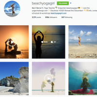 Beach Yoga Girl Weekend