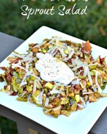 Warm Brussels Sprout Salad with a Poached Egg