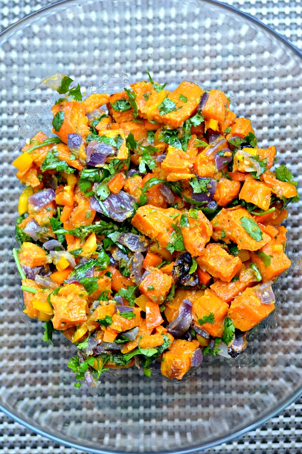 chilled sweet potato salad with lime and chili oil recipes