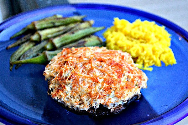 Crab Cake Stuffed Portobello Recipe
