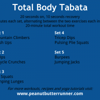 Tabata Tuesday: 20-Minutes of Bodyweight Strength & Cardio {Workout}