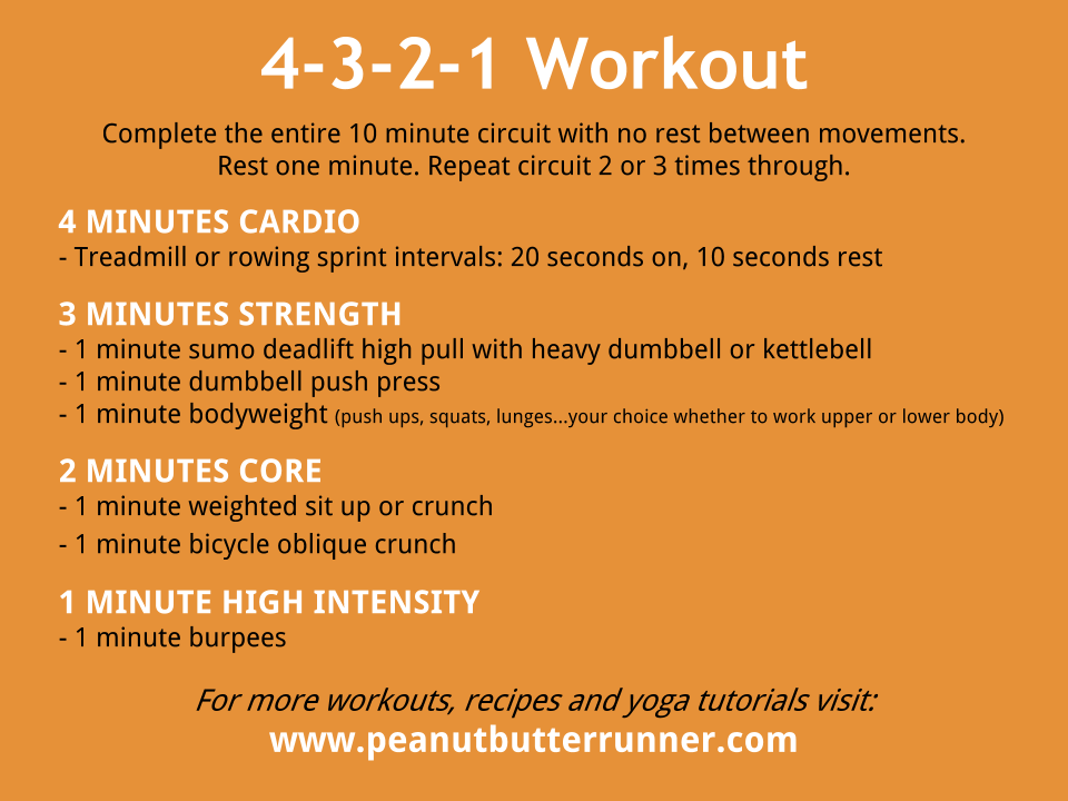 4 3 2 1 workout peanut butter runner for 1 2 3 4 all the ladies on the floor
