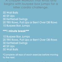 Burpee Box Jump Chipper Workout