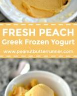 Fresh Peach Greek Frozen Yogurt