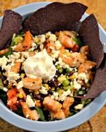 Southwestern Shrimp Taco Salad {Recipe}