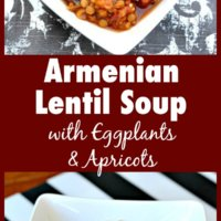 Armenian Lentil Soup with Eggplant and Apricots