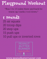 An Outdoor Park Workout + Weekly Workouts