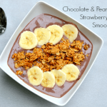Chocolate & Peanut Butter Strawberry Banana Smoothie Bowl