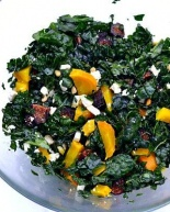 Tuscan Kale Salad with Golden Beets, Figs and Feta