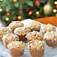 Cranberry Orange Muffins with Streusel Topping and Orange Glaze