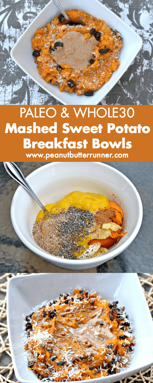 Sweet Potato Breakfast Bowls - Paleo and Whole30 Approved