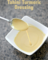 Homemade Tahini Turmeric Dressing