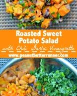 Roasted Sweet Potato Salad with Chili Garlic Vinaigrette