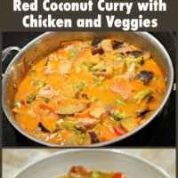 Thai Red Coconut Curry with Chicken and Veggies {Whole30 & Paleo}
