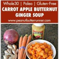 My Favorite Carrot Apple Butternut Ginger Soup Made Easy