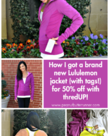 How I Got a Brand new Lululemon Jacket for 50% Off + $250 thredUP Giveaway