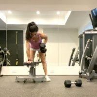 Sunday Morning Stuff + Glutes, Chest and Back Dumbbell Workout