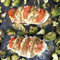 Caprese Chicken Breast Sheet Pan Dinner