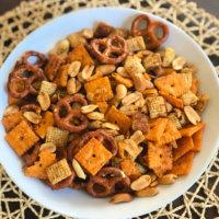 Cheesy & Peanuty Savory Snack Mix